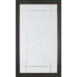 Ebony And Bronze Leaf Nine Panel Mirror