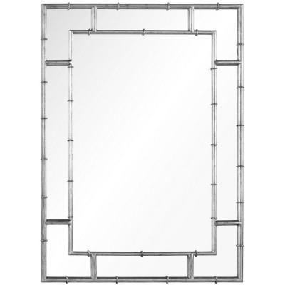 Distressed Silver Leaf Iron Mirror