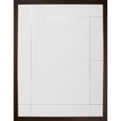 Walnut & Distressed Gold Eleven Panel Mirror