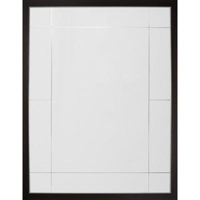 Espresso & Distressed Silver Eleven Panel Mirror