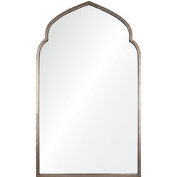 Antiqued Silver Leaf Iron Moroccan Mirror