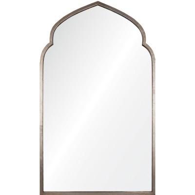 Antiqued Silver Leaf Iron Moroccan Mirror