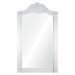 Framed Mirror With Antiqued Silver Leaf Sides