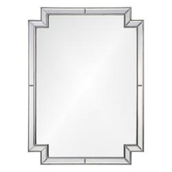 Distressed Silver Leaf Framed Mirror