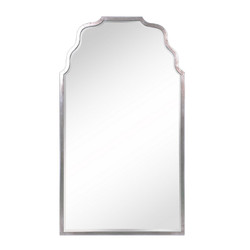Antiqued Silver Leaf Iron Mirror