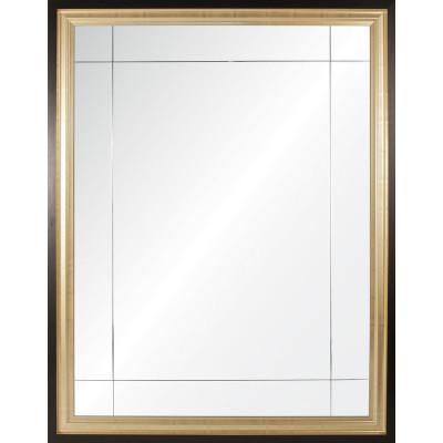 Gold & Ebony Nine Panel Mirror