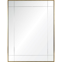 Water Gilded Gold Leaf & Ebony Nine Panel Floated Mirror