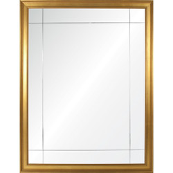 Gold Leaf Nine Panel Mirror
