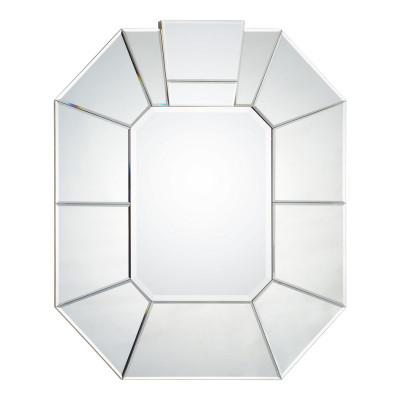 Framed Mirror With Silver Leaf Sides