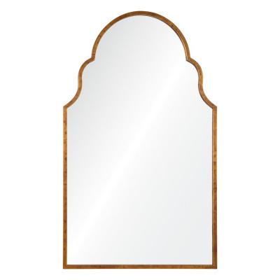 Antiqued Gold Leaf Iron Arch Mirror