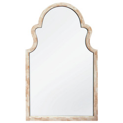 White Bone Arch Mirror