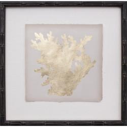 Mini Gold Leaf Coral I