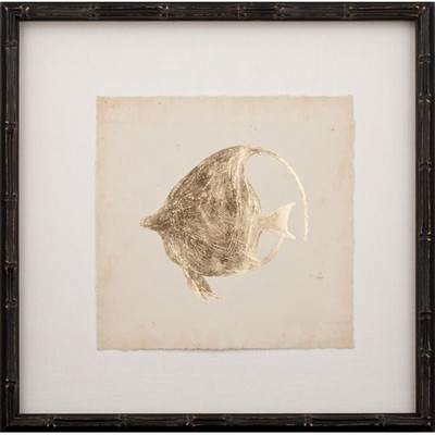 Gold Leaf Fish on Archival Paper