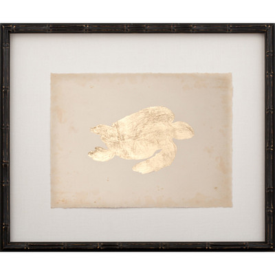 Gold Leaf Turtle - Right Facing on Archival Paper