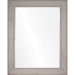 Grey Hide & Silver Nailhead Mirror