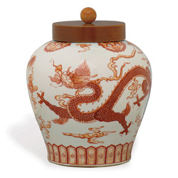 Dragon Jar W/ Lid