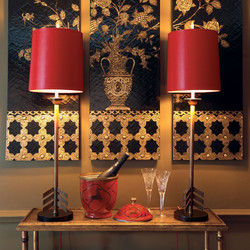 Franco Red Buffet Lamp
