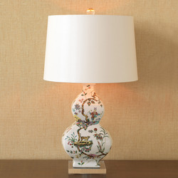 Chinoise Exotique Lamp - Ivory Lizard
