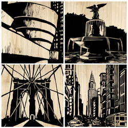 City Panels - Set Of 4