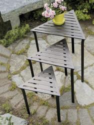 Triangular Nesting Tables - Set of 3