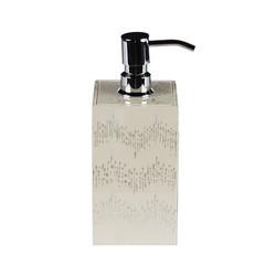 Ikat Lotion/Soap Dispenser - White