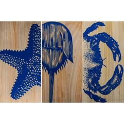 Crustacean Trio Panels - Set of 3
