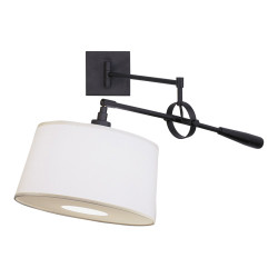 Real Simple Wall Mounted Boom Lamp - Matte Black Powder Coat