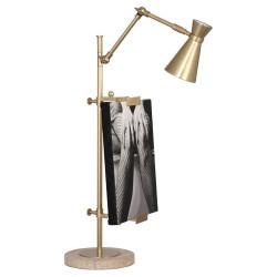 Jonathan Adler Bristol Adjustable Table Easel w/ Lamp - Antique Brass