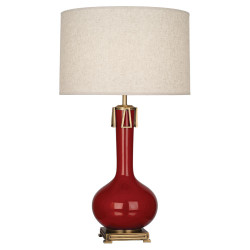 Athena Table Lamp - Oxblood