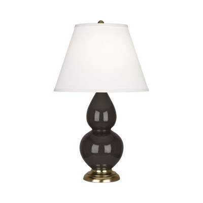 Robert Abbey Small Double Gourd Table Lamp Antique Brass