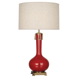 Athena Table Lamp - Ruby Red