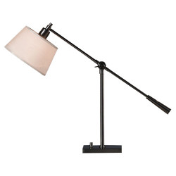 Real Simple Boom Table Lamp - Gunmetal Powder Coat