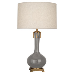 Athena Table Lamp - Smokey Taupe