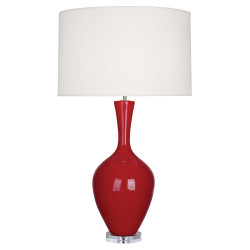 Audrey Table Lamp - Ruby Red