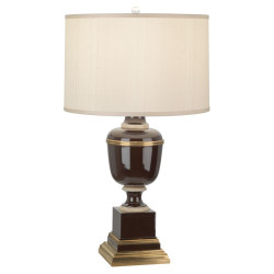Mary McDonald Annika Table Lamp - Natural Brass - Chocolate Lacquer
