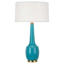 Delilah Table Lamp - Antique Brass - Egg Blue