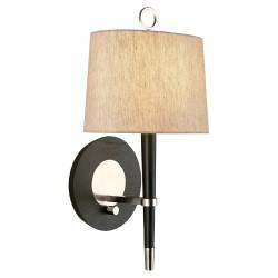 Jonathan Adler Ventana Wall Sconce - Ebonyed Wood w/ Polished Nickel
