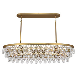 Bling Chandelier - Oval - Antique Brass