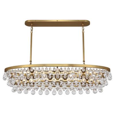 Bling Chandelier - Oval - Antique Brass