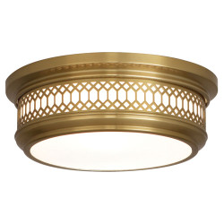 Williamsburg Tucker Flushmount  - Small - Antique Brass