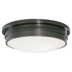 "Roderick 17"" Dia Flush Mount - Deep Patina Bronze"