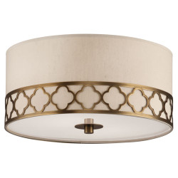 Addison Semi Flush Mount - Weathered Brass