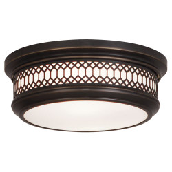 Williamsburg Tucker Flushmount - Small - Deep Patina Bronze