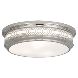 Williamsburg Tucker Flushmount - Large - Polished Nickel