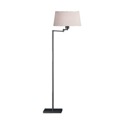 Real Simple Swing Arm Floor Lamp - Gunmetal Powder Coat