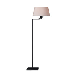 Real Simple Swing Arm Floor Lamp - Matte Black Powder Coat
