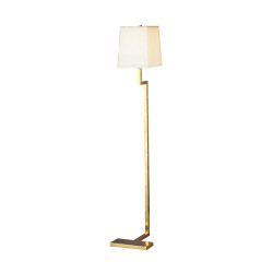 "Doughnut Mini ""C"" Floor Lamp - Natural Brass"