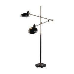 Bruno Adjustable Double Arm Floor Lamp - Lead Bronze