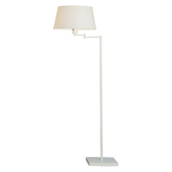 Real Simple Swing Arm Floor Lamp - Stardust White Powder Coat