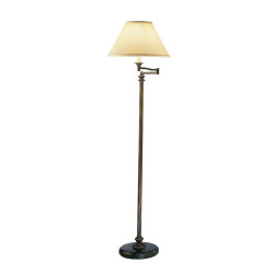 Abbey Bronze Swing Arm Floor Lamp - Victorian Bronze